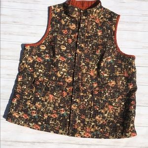 CJ Banks Reversible Quilted Vest 2X